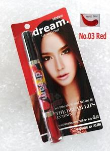 Mistine Dream Lip Tint 2in1 Sexy Red #No.03 Red Gloss Shimmer by Aum 4.7g