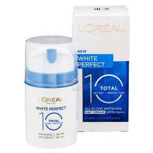 LOreal WHITE PERFECT Total 10 Whitening All-In-One DAY CREAM SPF30 PA+++ 50ml