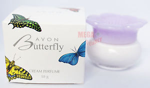 AVON Butterfly Cream Perfume Fragrance Softener New In Box For Gift 18g.
