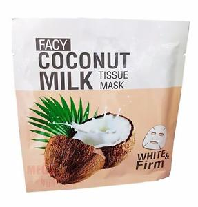 FACY COCONUT MILK TISSUE MASK WHITE + Firm Anit-Aging Nourishing Brightening 21g