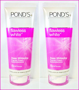 2 x Pond s Flawless White Deep Whitening Facial Face Foam with GenActiv 100 g.