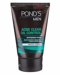 Ponds Men Acne Clear Oil Control Facial Whitening Foam WHITE + FRESH 100g