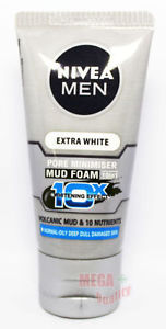 50 g. NIVEA FOR MEN EXTRA WHITENING PORE MINIMIZER MUD COOL FACIAL FOAM 10 IN 1