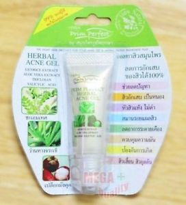 HERBAL Prim Perfect ACNE GEL 100% Licorice Aloe Vera Witch Hazel Flowers 15g