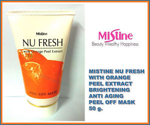 MISTINE NU FRESH WITH ORANGE PEEL EXTRACT BRIGHTENING ANTI AGING PEEL OFF MASK