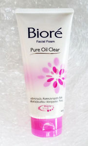 Biore Facial Foam Pure Oil Clear with Micro Scrub Witch Hazel for Oily Skin 100g