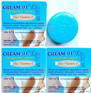 3 x CREAM 91 E For Cracked Heels Vitamin E Stretchmarks Dark Spots Knees Elbows