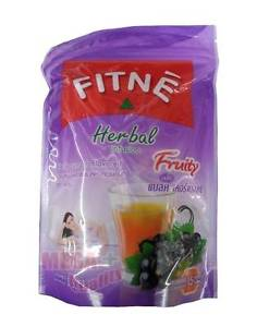 FITNE Herbal Infusion Fruity Blackcurrant Flavor Slim Diet Weight Loss 15 teabag