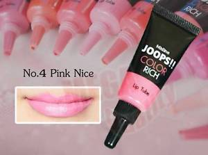 Mistine JOOPS!! COLOR RICH Lipstick Tube High Volume Pigment #04 Pink Nice 8g