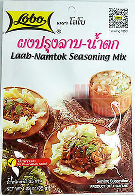 LOBO Laab Namtok Seasoning Mix Authentic Thai Herbal Food 35 g