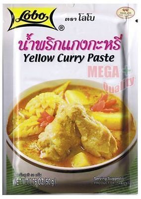Lobo Yellow curry paste Thai herbal food 50g.
