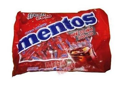 110 Tablets MENTOS CHEWY DRAGEES Sweet Candy Fresh Cola Flavour 279g