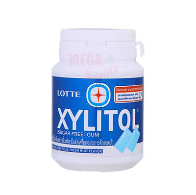 LOTTE XYLITOL SUGAR FREE CHEWING GUM FRESH MINT 58G