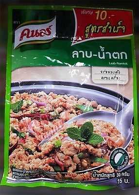 Knorr LAAB NAMTOK Complete Recipe Mix Delicious Thai Food Side Dish 4 People 30g