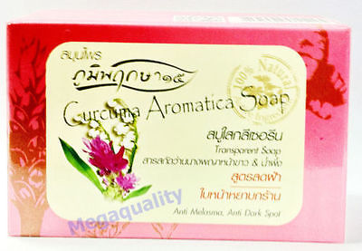 100% Natural Curcuma Aromatica Transparent Anti Melasma Dark Spot Herbal Soap