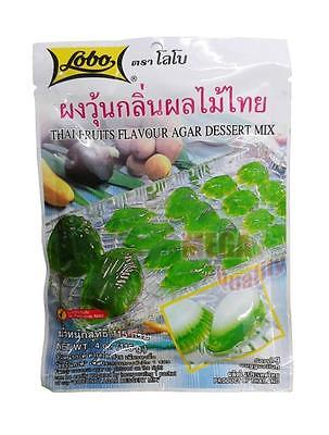 Lobo THAI FRUITS FLAVOR AGAR DESSERT MIX - Green - Sweet Agar Thai Fruits 115g