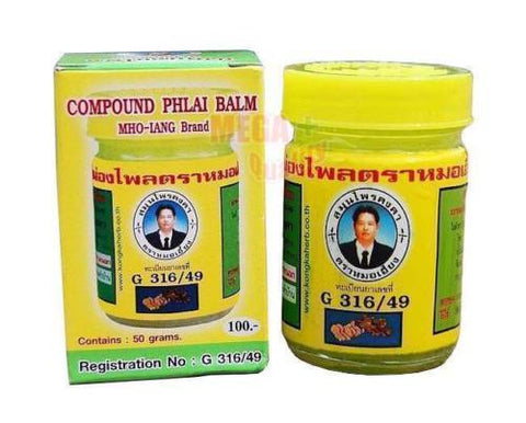 COMPOUND PHLAI BALM MHO-IANG Brand for Muscle pain Headaches Insect Bites 50g