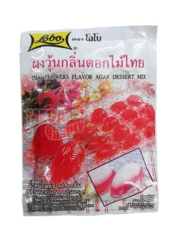 Lobo THAI FLOWERS FLAVOR AGAR DESSERT MIX Thai Fruits - Red - Sweet Agar 115g