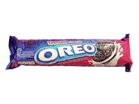 OREO - Double Stuf - Chocolate Sandwich Cookies with Vanilla Flavored Cream 137g