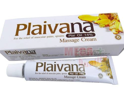 Plaivana Plai Oil 14% Herbal Massage Cream for Relief Muscle Pain Sprains 15g