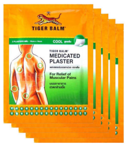 10 x BIG SIZE TIGER BALM PATCH PLASTER COOL COLD MEDICATED PAIN RELIEF