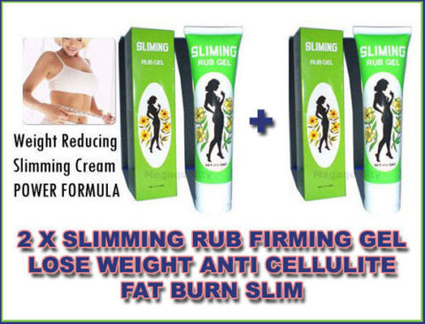 2 x Anti-cellulite Slimming Slim Rub Firming Gel Lose Weight Fat Burner Burning