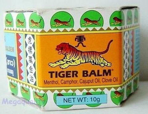 10 g. TIGER BALM White Herbal Pain Relief Ointment Balm Jar Natural headache