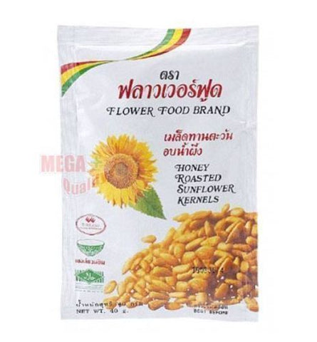 FLOWER FOOD BRAND HONEY ROASTED SUNFLOWER KERNELS DELICIOUS FOOD SNACK 40G