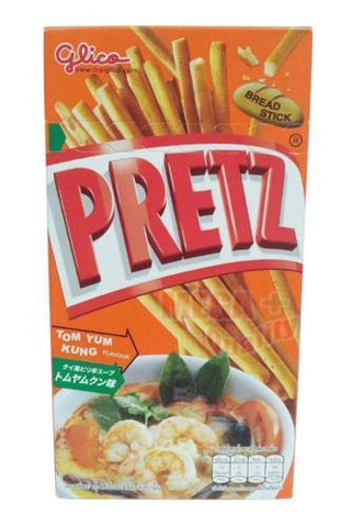 Glico PRETZ BREAD STICK TOM YUM KUNG FLAVOUR Food Stick Snacks Thai Style 36g