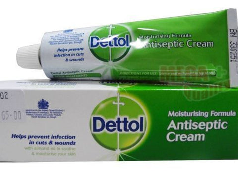 Dettol Moisturising Formula Antiseptic Cream Prevent Infection In Cut wounds 30g