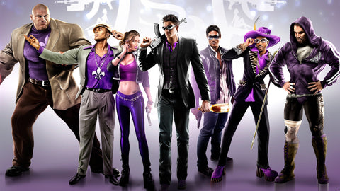 Saints Row The Third Game Silk Wall Art Poster Print - 13x20 inch (33x50cm)