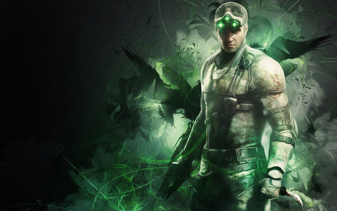 Sam Fisher in Splinter Cell Game Silk Wall Art Poster Print - 13x20 inch (33x50cm)