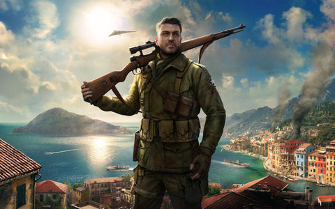Sniper Elite 4 Game 4K Game Silk Wall Art Poster Print - 13x20 inch (33x50cm)