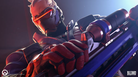 Soldier 76 Overwatch Game Silk Wall Art Poster Print - 13x20 inch (33x50cm)