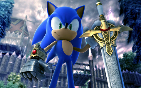 Sonic & The Black Knight Game Silk Wall Art Poster Print - 32x48 inch (80x120cm)