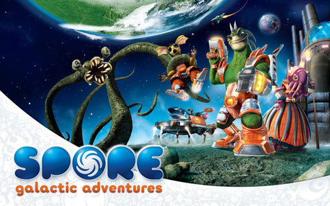 Spore Galactic Adventures Game Game Silk Wall Art Poster Print - 13x20 inch (33x50cm)