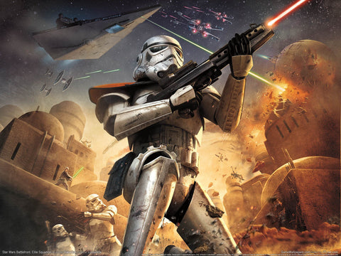 Star Wars Battlefront Elite Squadron Game Silk Wall Art Poster Print - 32x48 inch (80x120cm)