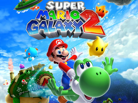 Super Mario Galaxy 2 Game Silk Wall Art Poster Print - 32x48 inch (80x120cm)