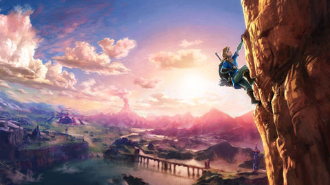 The Legend of Zelda Breath of the Wild 2017 Game Silk Wall Art Poster Print - 13x20 inch (33x50cm)