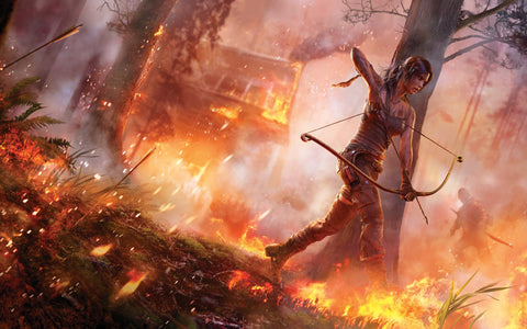 Tomb Raider 2013 Game Game Silk Wall Art Poster Print - 13x20 inch (33x50cm)