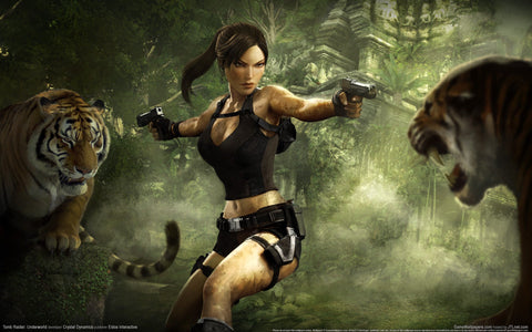 Tomb Raider Underworld Game Widescreen Game Silk Wall Art Poster Print - 13x20 inch (33x50cm)