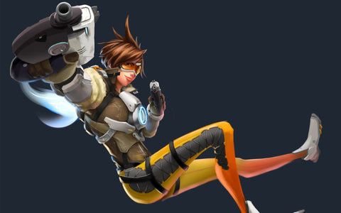 Tracer HD 4K 5K Game Silk Wall Art Poster Print - 13x20 inch (33x50cm)