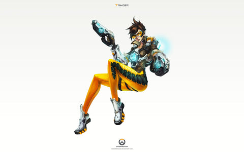 Tracer Overwatch Art 4K Game Silk Wall Art Poster Print - 13x20 inch (33x50cm)