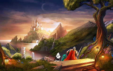 Trine 2 Heading for Castle Game Silk Wall Art Poster Print - 13x20 inch (33x50cm)