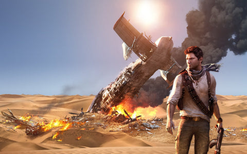 Uncharted 3 Drake's Deception Game Silk Wall Art Poster Print - 13x20 inch (33x50cm)
