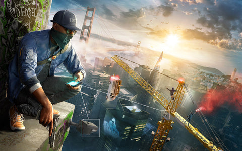 Watch Dogs 2 Game Game Silk Wall Art Poster Print - 32x48 inch (80x120cm)
