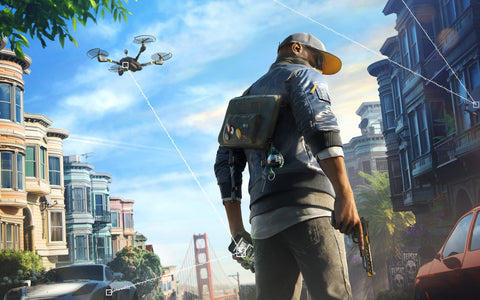 Watch Dogs 2 Marcus 4K 8K Game Silk Wall Art Poster Print - 32x48 inch (80x120cm)