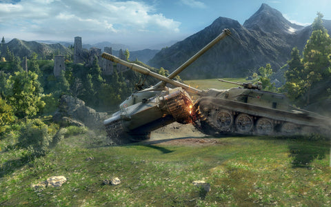 World of Tanks Battle Game Silk Wall Art Poster Print - 13x20 inch (33x50cm)