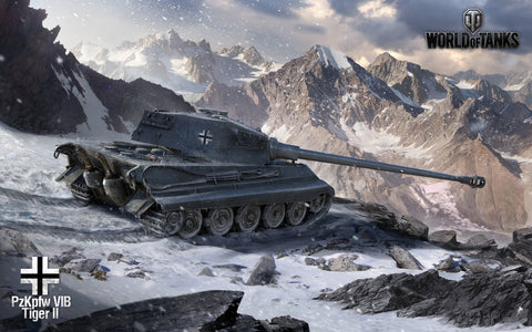 World of Tanks King Tiger Game Silk Wall Art Poster Print - 13x20 inch (33x50cm)