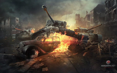 World of Tanks Online Game Game Silk Wall Art Poster Print - 13x20 inch (33x50cm)